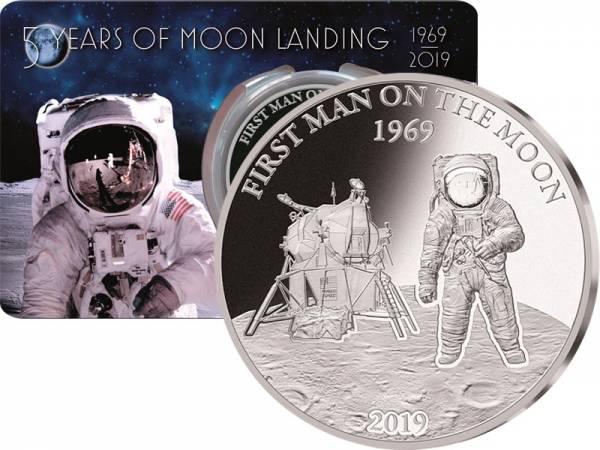 5 Dollars Barbados Erster Mensch auf dem Mond 2019