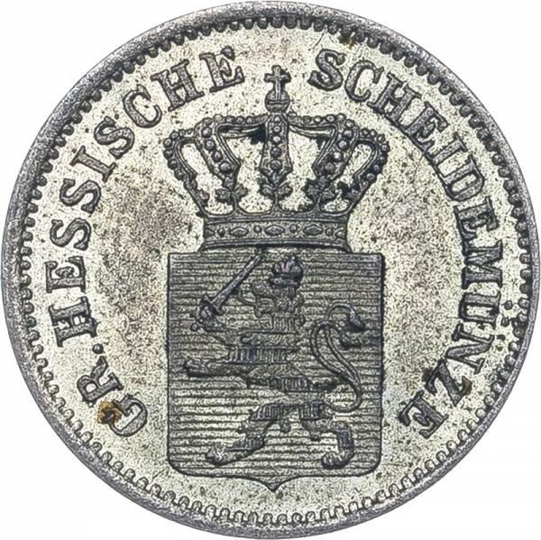 1 Kreuzer Hessen-Darmstadt Großherzog Ludwig III. 1858 - 1872