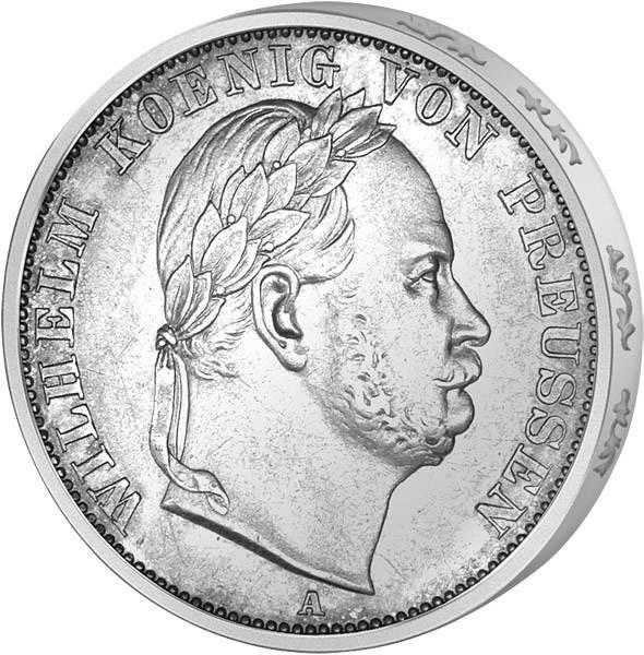 Vereinstaler Preußen Siegestaler Königgrätz König Wilhelm I. 1866