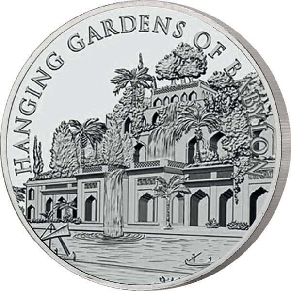 Gedenkprägung Silber Hängende Gärten Babylons