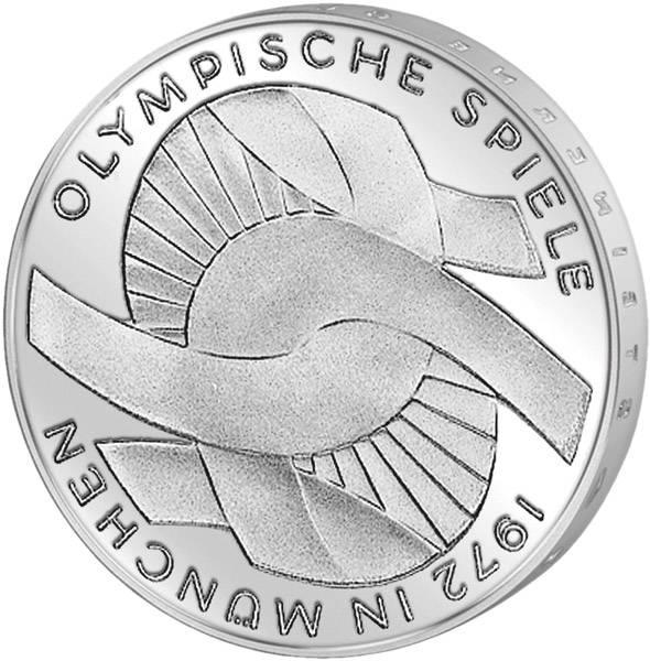 10 DM BRD Olympia III - Verschlungene Arme 1972