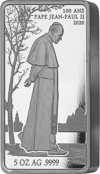 5.000 Francs Togo John Paul II. 2020
