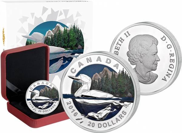 20 Dollars Kanada Geometrie in der Kunst Ente  Polierte Platte (PP)
