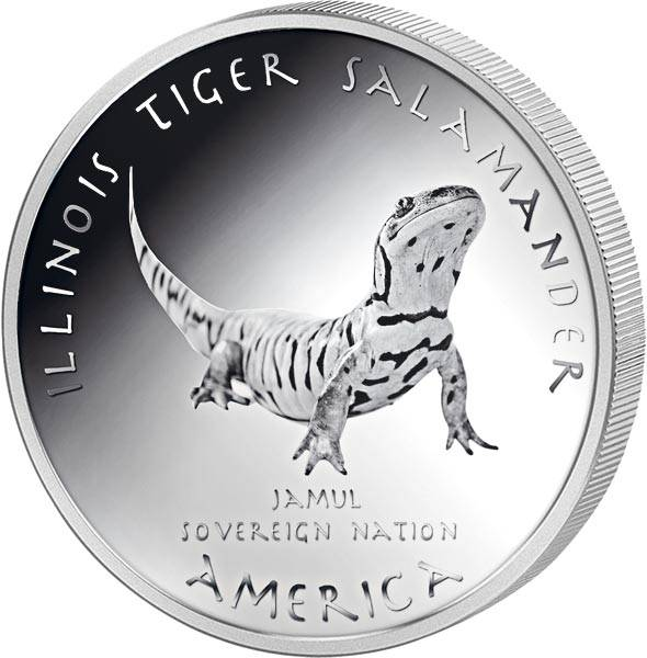 1 Dollar USA Native State Dollar Peoria Tiger Salamander Illinois 2020