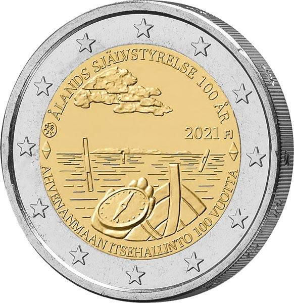 2 Euro Finnland 100 Jahre Unabhängigkeit Alandinseln 2021
