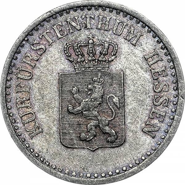 1 Silbergroschen Hessen-Kassel Kurfürst Freidrich Wilhelm I. 1852 - 1865
