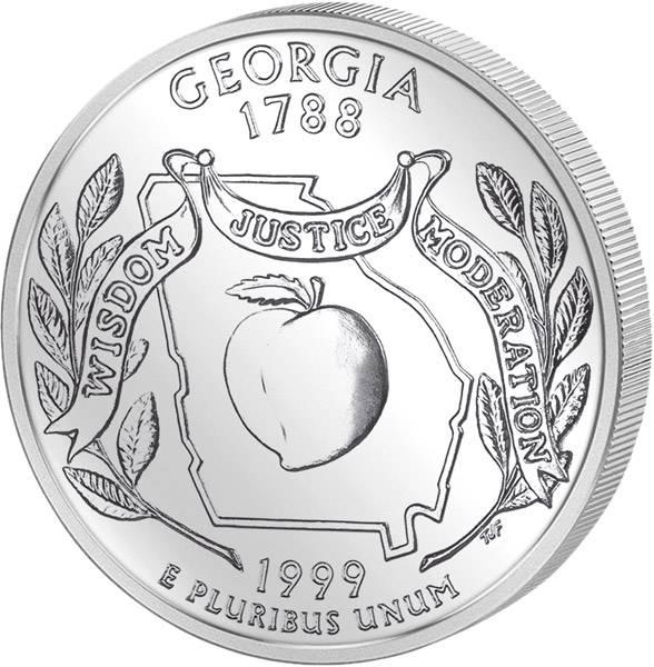 Quarter Dollar USA Georgia 1999