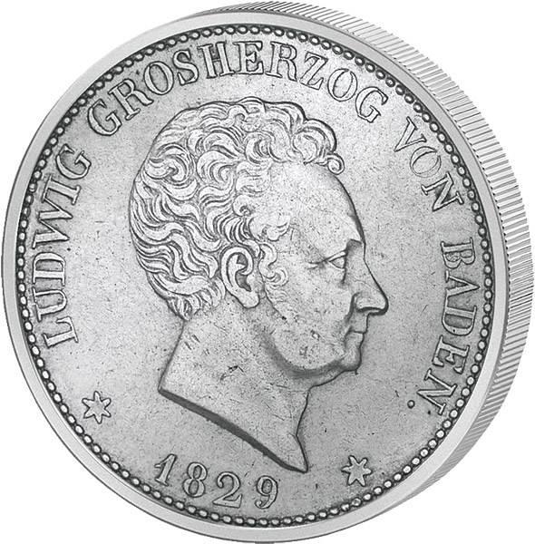 Taler zu 100 Kreuzer Baden Großherzog Ludwig