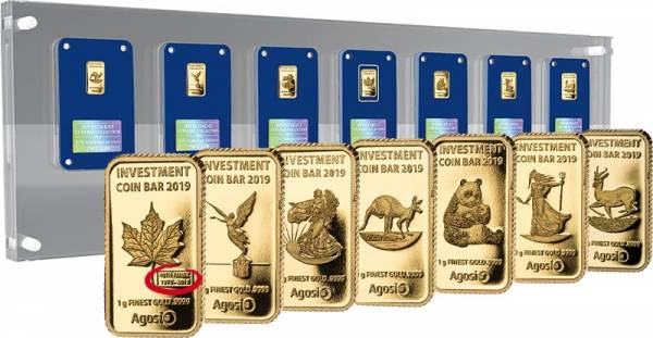 Investment Coin Bar Collection Tribute Edition 2019