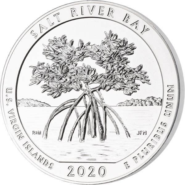5 Unzen Silber USA Jungferninseln Salt River Bay National Historical Park 2020