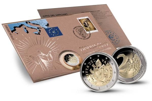 2 Euro Numisbrief Vatikan Ostern Die Auferstehung Christi 2019