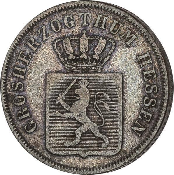 6 Kreuzer Hessen-Darmstadt Großherzog Lufwig II. 1843-1847