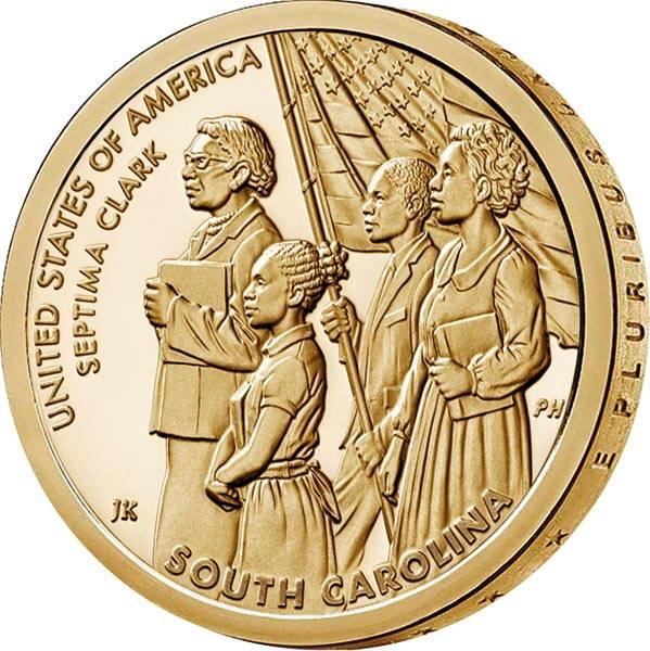 1 Dollar USA American Innovation - Septima Clark 2020