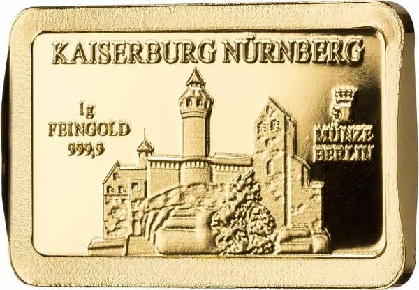1 Gramm Goldbarren Deutsche Wahrzeichen Kaiserburg Nürnberg
