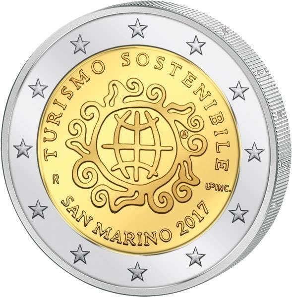 2 Euro San Marino Internationales Jahr des nachhaltigen Tourismus 2017