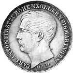 Taler Doppelgulden Carl Anton 1849  ss-vz