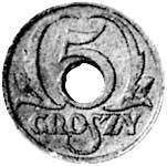 5 Groszy Polen Polnischer Adler 1939 Sehr schön