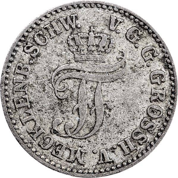 1/48 Taler Mecklenburg-Schwerin Großherzog Friedrich Franz II 1852-1866
