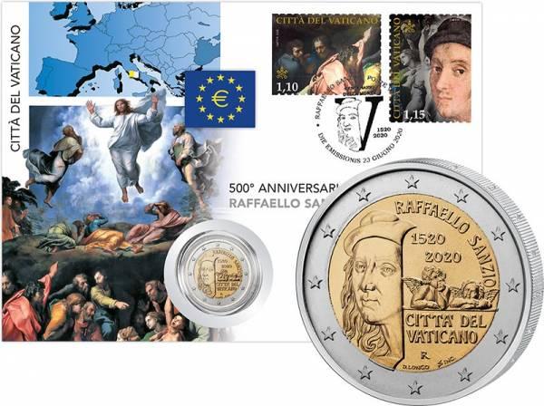 2 Euro Vatikan Numisbrief 500. Todestag Raffael 2020