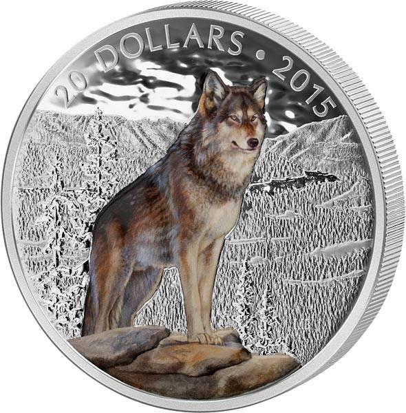 20 Dollars Kanada Alpha Wolf 2015