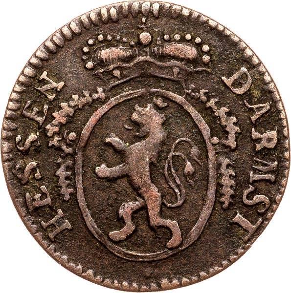 1 Pfennig Hessen-Darmstadt Lufwig X. 1791-1801