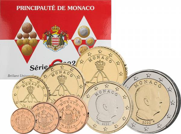Euro-Kursmünzensatz Monaco 2020