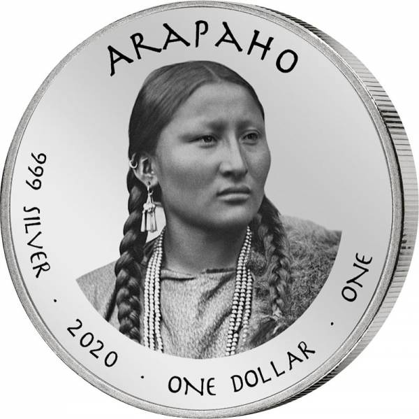 1 Dollar USA Native State Dollar Nebraska Arapaho Channel Catfish 2020
