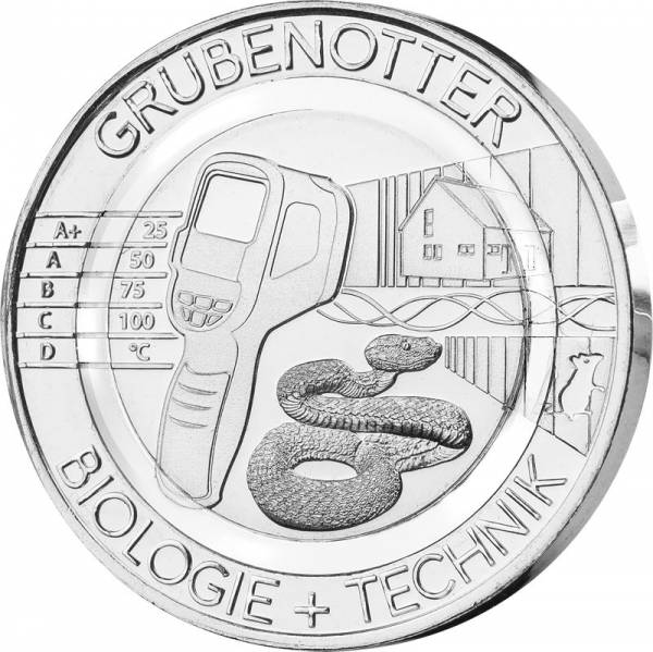 Gedenkprägung Grubenotter