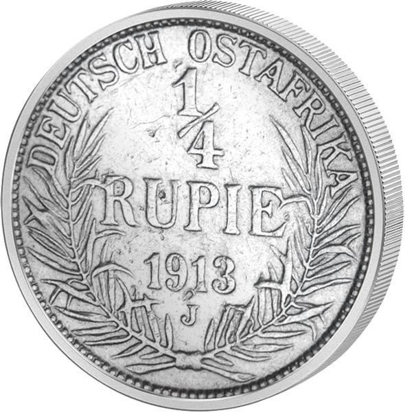 1/4 Rupie Deutsch-Ostafrika Wilhelm II. 1904-1914 Sehr schön