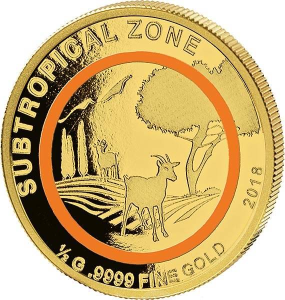 100 Francs Kongo Subtropische Zone Ziege 2018
