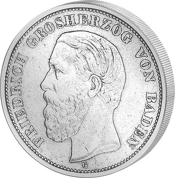 2 Mark Baden Friedrich I. 1876-1888 s-ss
