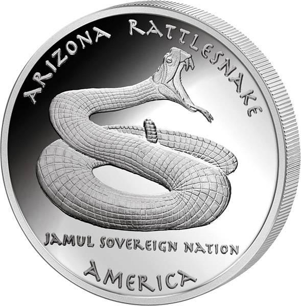 1 Dollar USA Arizona Apachen Klapperschlange 2016   Polierte Platte (PP)