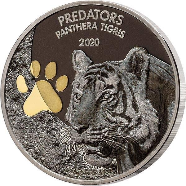 20 Francs Kongo Predators Tiger 2020