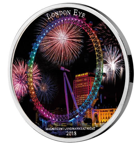 2.000 Francs Elfenbeinküste Magnificent Landmarks at Night London Eye - FOTOMUSTER