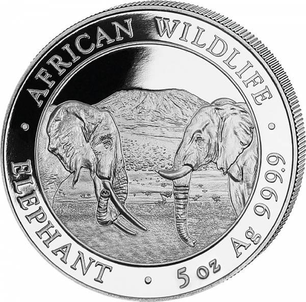 5 Unzen Silber Somalia Elefant 2020
