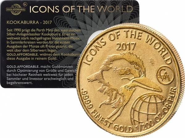 1/200 Unze Gold Ruanda Kookaburra 2017
