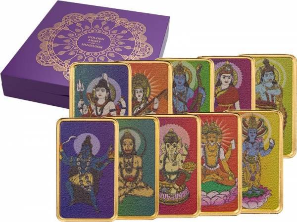 10 x 5 Dollars Fidschi Goldenes Licht des Hinduismus 2020