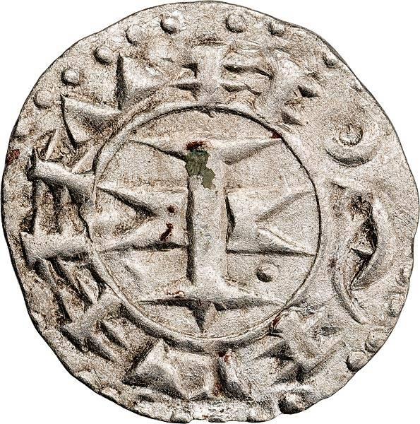 Denier Grafschaft Melgueil Bischöfe von Maguelone ca. 1215-1350