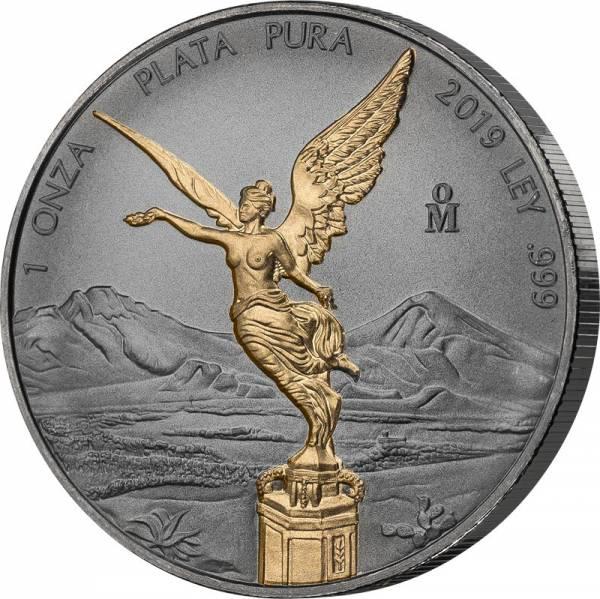 1 Unze Silber Mexiko Libertad 2019 Golden Enigma Edition