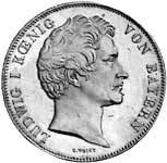 Taler Geschichtsdoppeltaler Ludwig I 1845  vorzüglich