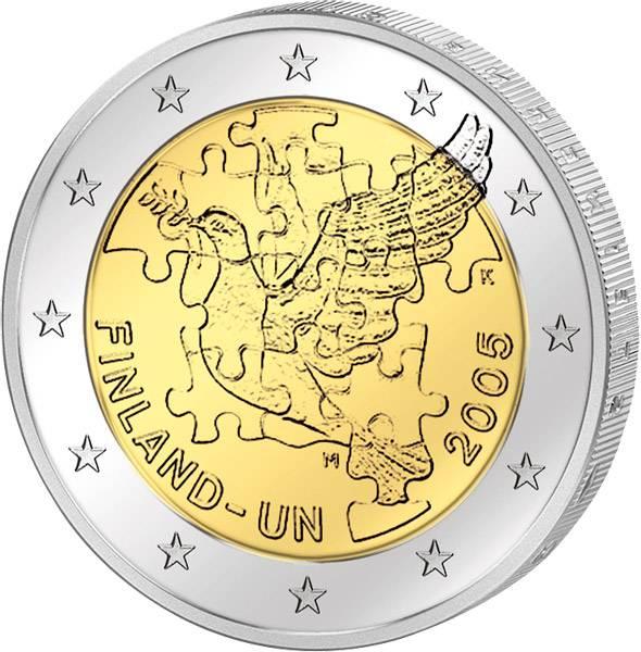 2 Euro Finnland 50 Jahre UN-Beitritt 2005