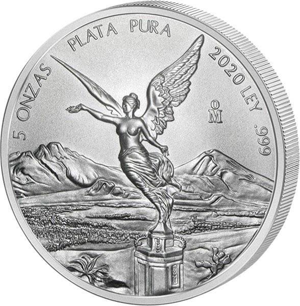 5 Unzen Silber Mexiko Libertad 2020