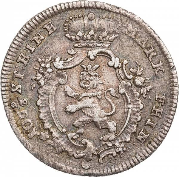1/8 Taler Hessen-Kassel Landgraf Friedrich II. 1766-1775