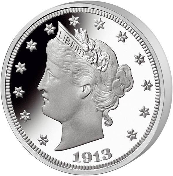 5 Cent USA Liberty Nickel von 1913 Original-Replik