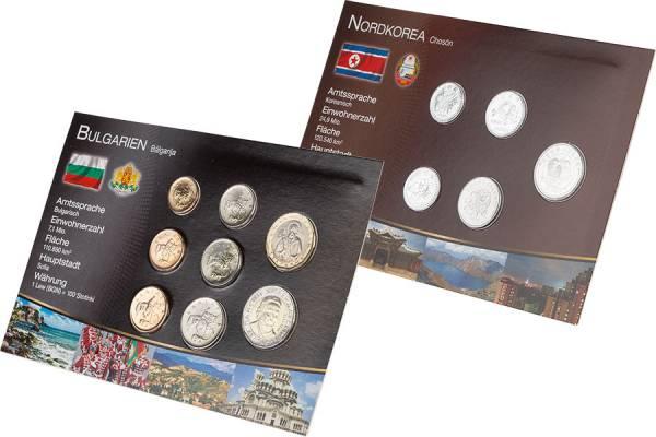 Premium-Kursmünzen-Set Bulgarien und Nordkorea