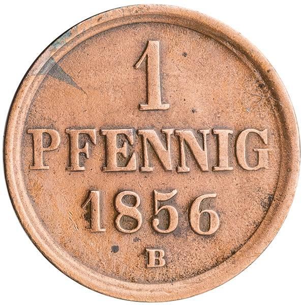 1 Pfennig Herzogtum Braunschweig Herzog Wilhelm 1851-1856