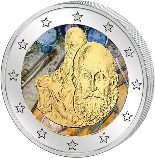 2 Euro Griechenland 400. Todestag El Greco mit Farb-Applikation