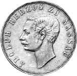 Taler Vereinsdoppeltaler Adolph 1860  ss-vz