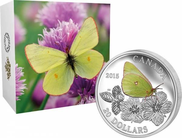 20 Dollars Kanada Schmetterlinge Colias Gigantea 2015