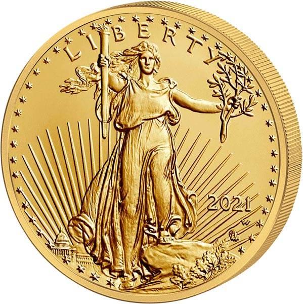 1/2 Unze Gold USA American Eagle 2021